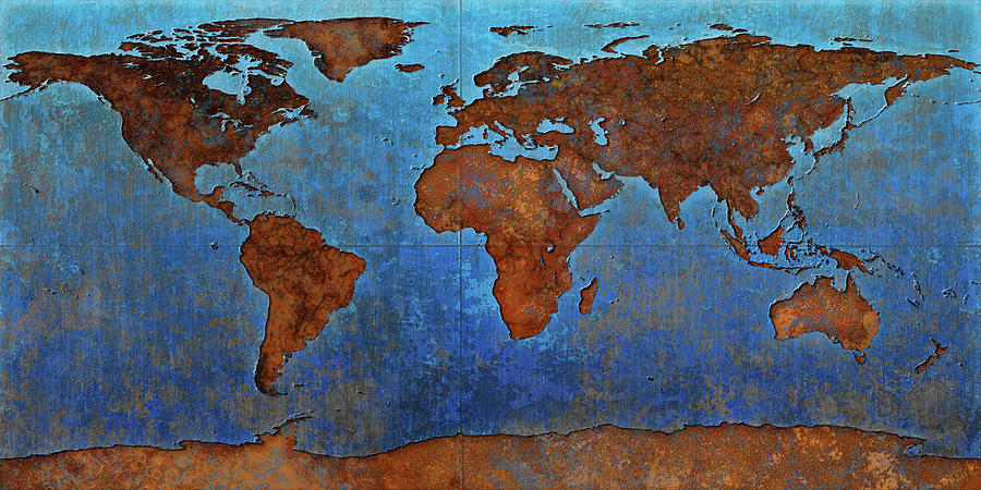 World Map Rust by Frans Blok