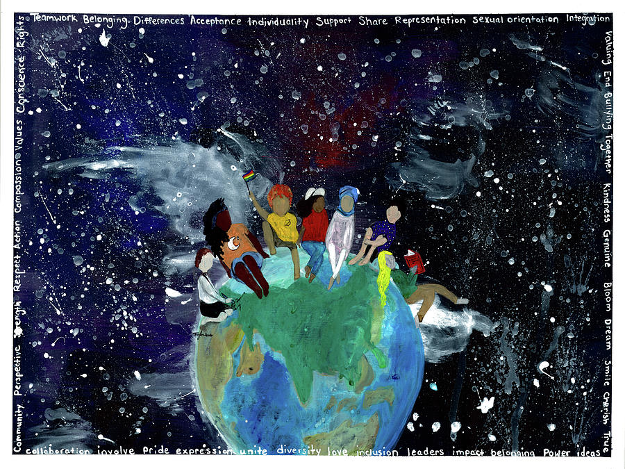 World Of Equality Painting by Taylor Hart