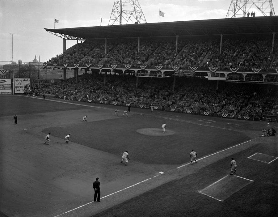WORLD SERIES - New York Yankees v Brooklyn Dodgers Photograph by Kidwiler Collection