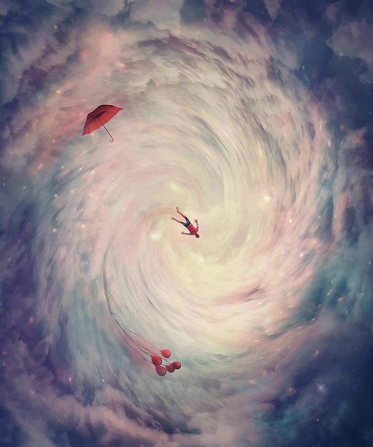 Wormhole To Wonderland Digital Art