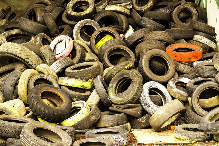 Worn out tyres by Bridget Mejer