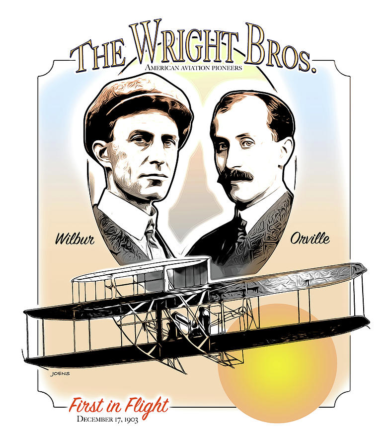 Wright Brothers Drawing