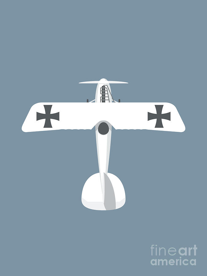 Aircraft Digital Art - WWI German D.V Aircraft - Slate by Organic Synthesis