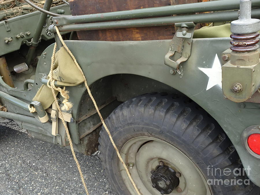 Wwii Jeep Side View Photograph