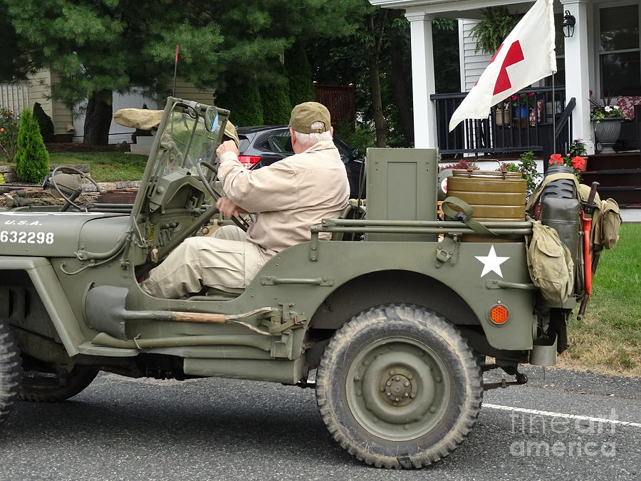 Wwii Medical Jeep Photograph