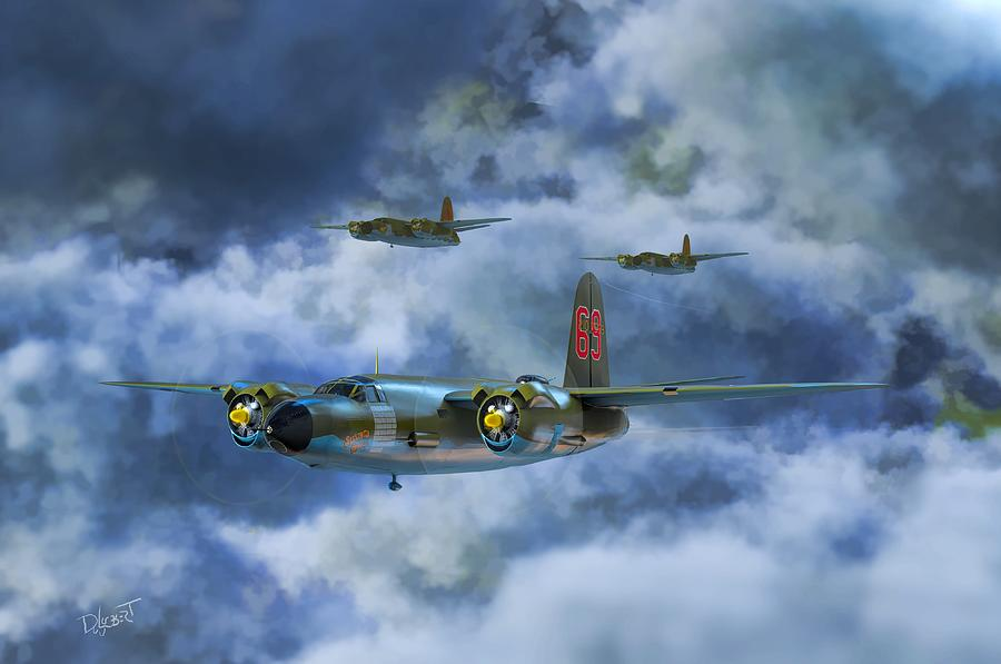 Marauder B-26 Medium Bomber Digital Art