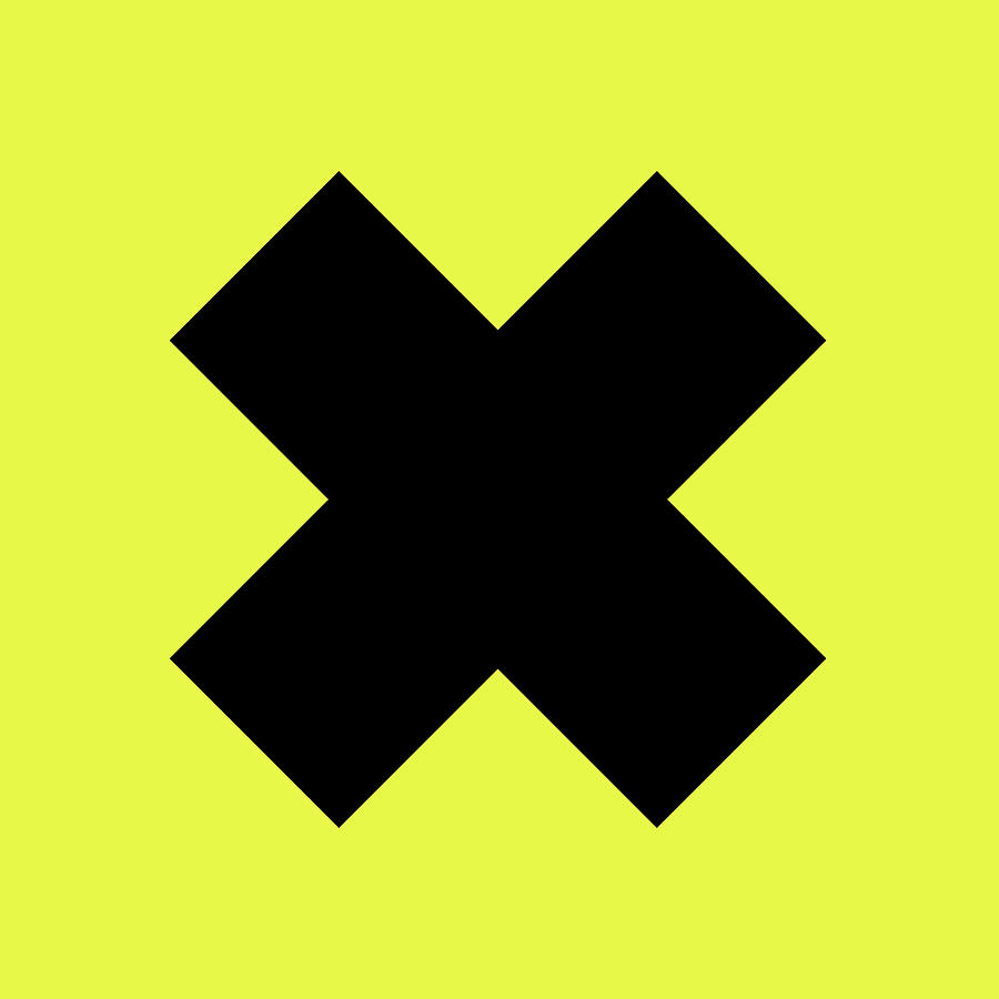 X Cross - Saint Andrews Cross - Saltire 10 - Yellow And Black Digital Art