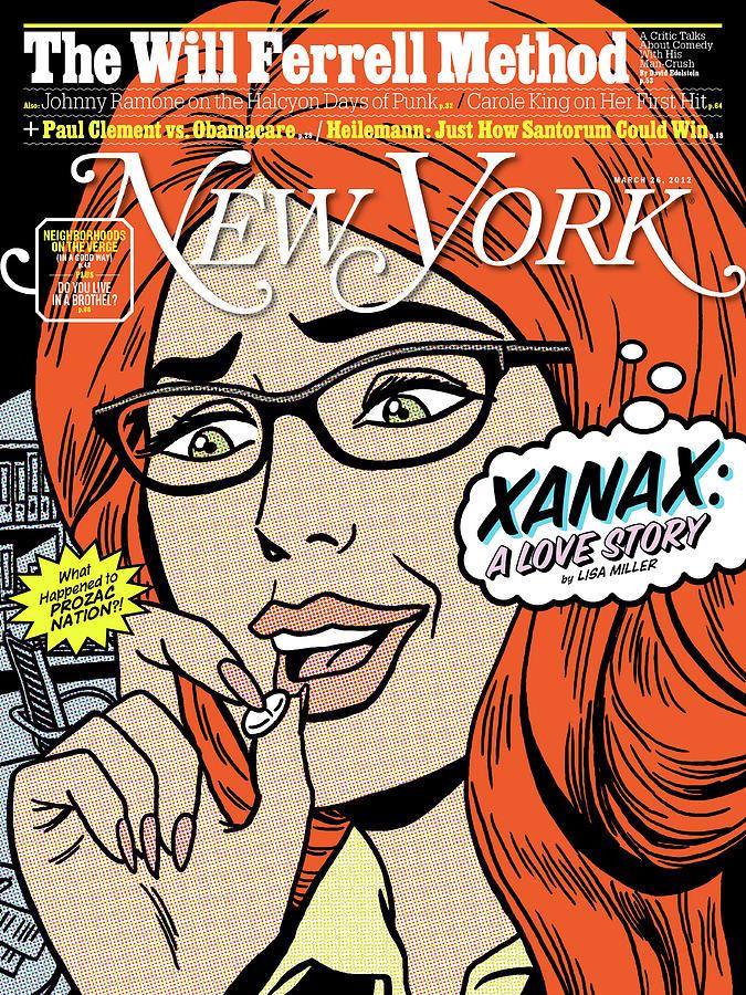 Artist Digital Art - Xanax, A Love Story by Ward Sutton