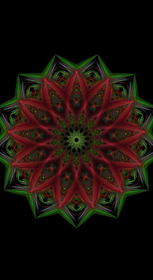 Xmas Cookie Mandala Digital Art