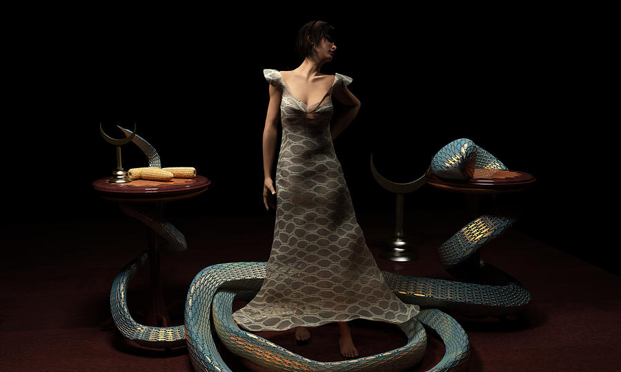 3d Digital Art - Xquic-Tonantzin by Oscar Vago