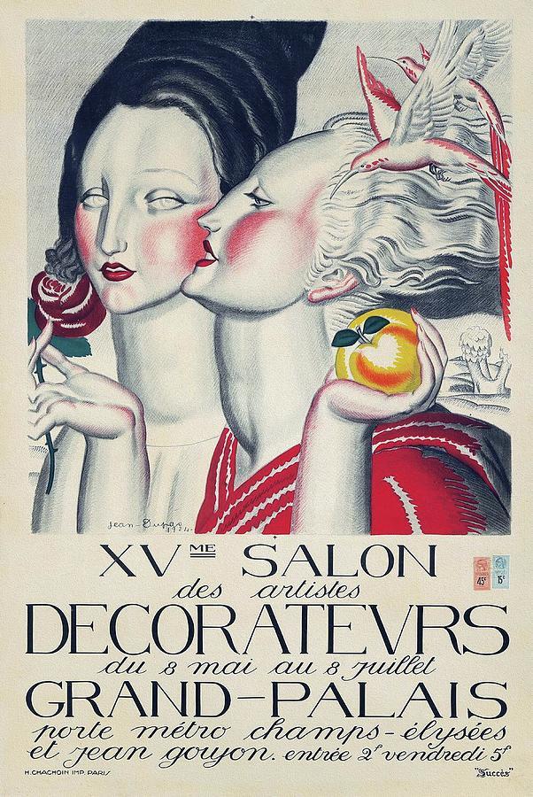 Art Deco Painting - XVme Salon des Artistes Decorateurs 1924 Art Deco Poster by Jean Dupas