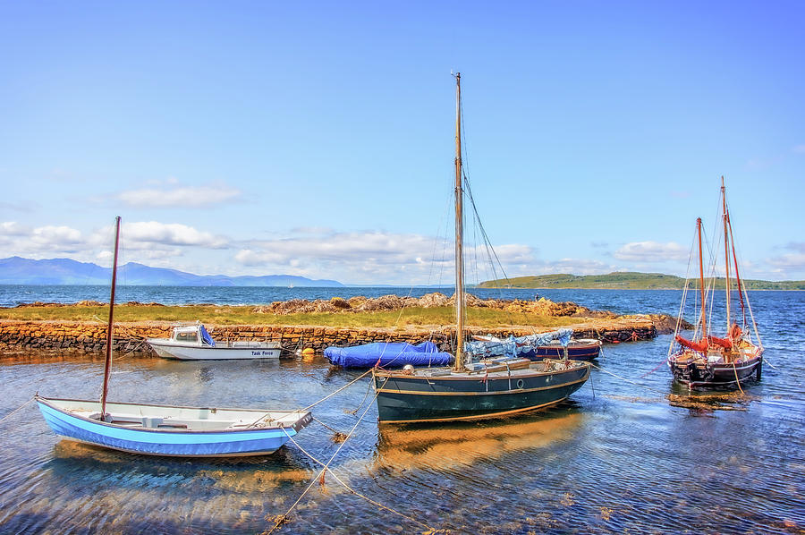 Yachts In Portencross Harbour Photograph