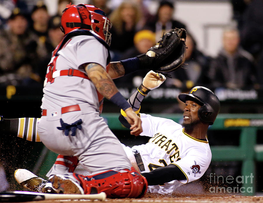 Yadier Molina and Andrew Mccutchen Photograph by Justin K. Aller