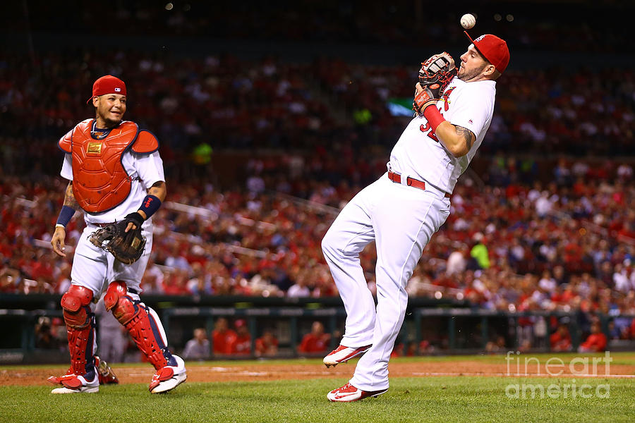 Yadier Molina and Matt Adams Photograph by Dilip Vishwanat