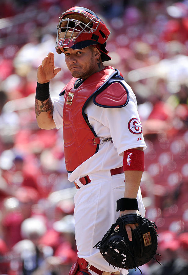 Yadier Molina Photograph by Ron Vesely