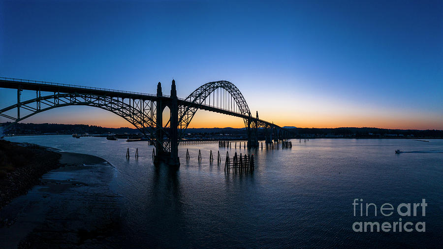 Yaquina Bay Bridge Newport Oregon Photograph