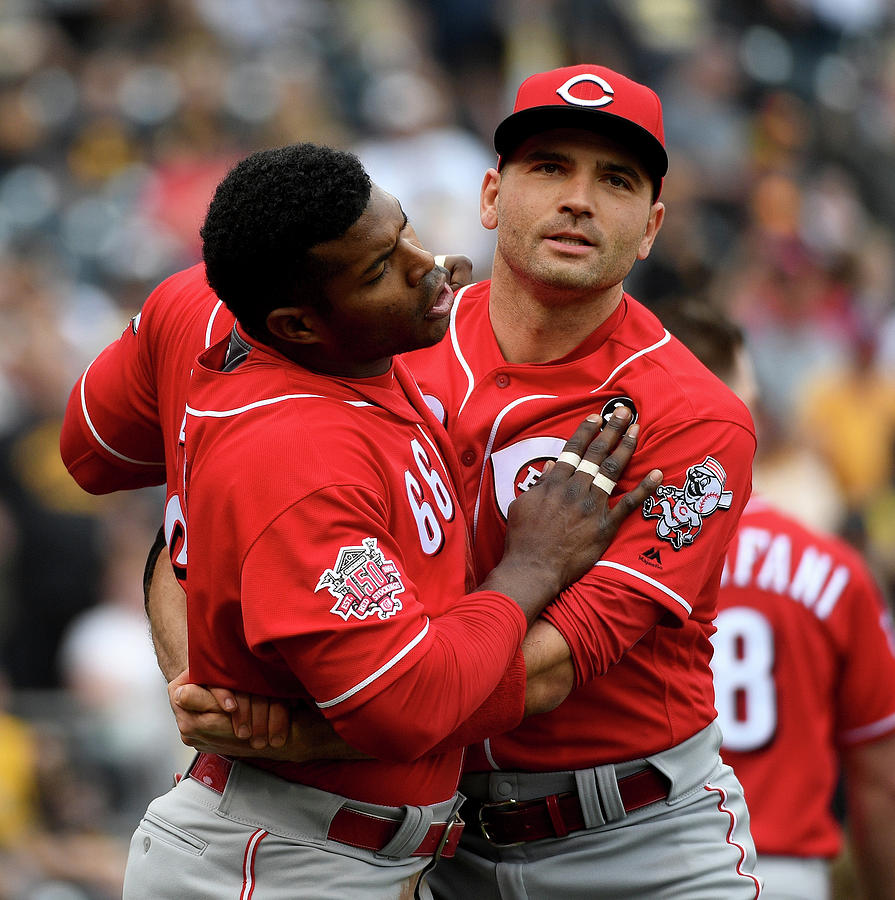 Yasiel Puig And Joey Votto Photograph by Justin Berl