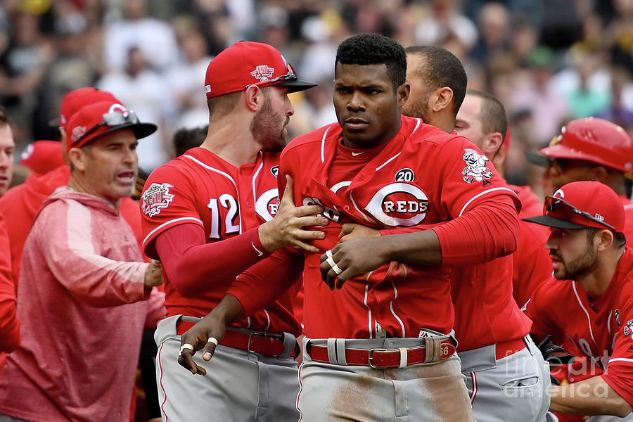 Yasiel Puig, Joey Votto, And Matt Kemp Photograph by Justin Berl