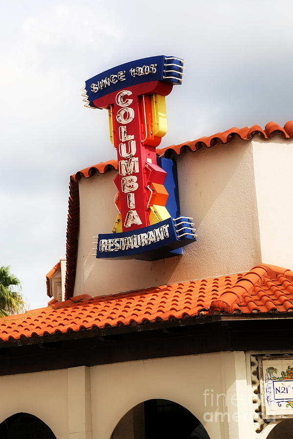Ybor City Restaurant Sign by Carol Groenen