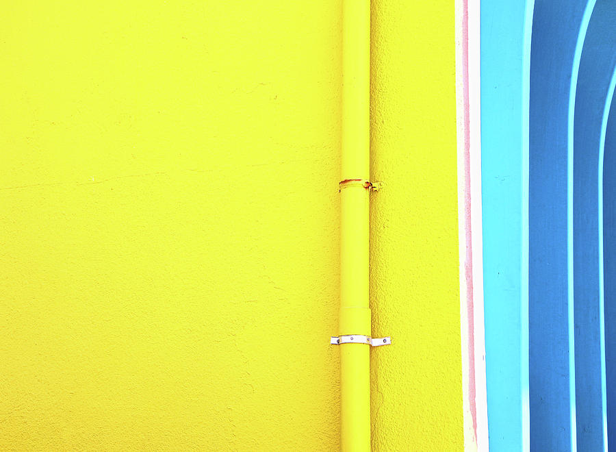 Yellow And Blue Photograph
