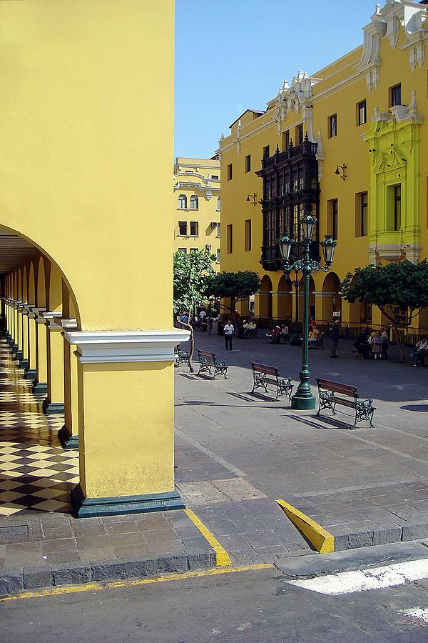Yellow Buildings Lima Peru Photograph by Karen Zuk Rosenblatt