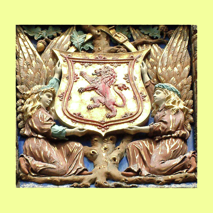 Yellow Coat Of Arms Photograph
