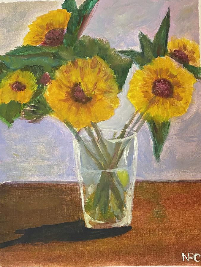 Yellow Flowers Painting - Yellow Flowers by Naomi Cooper