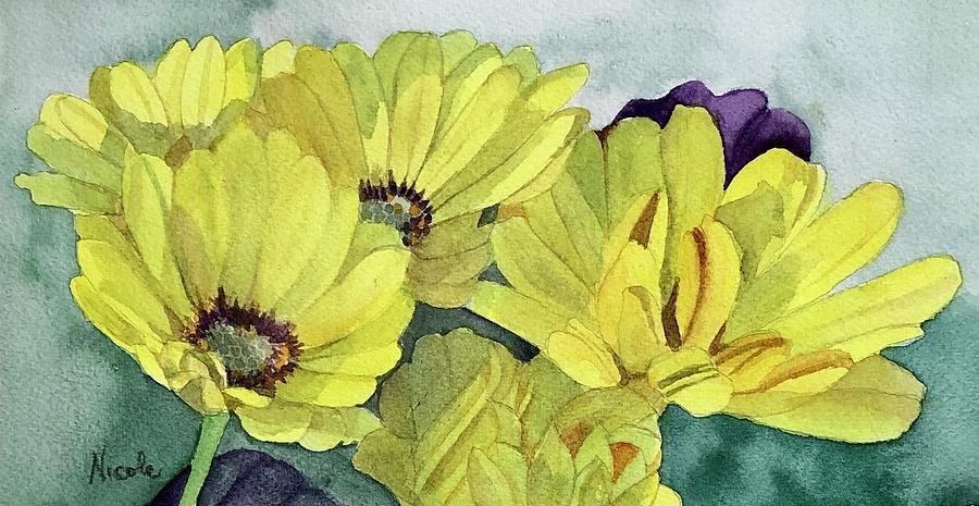 Yellow Gerberas Painting