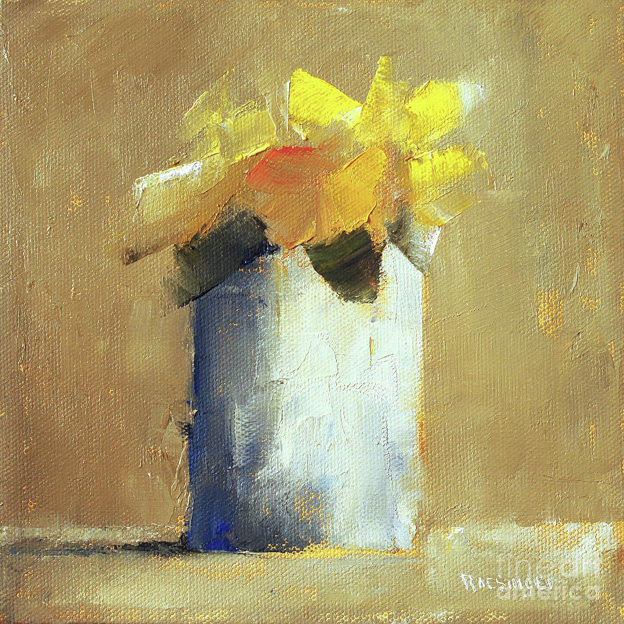 Yellow Painting - Yellow Morning by Paint Box Studio