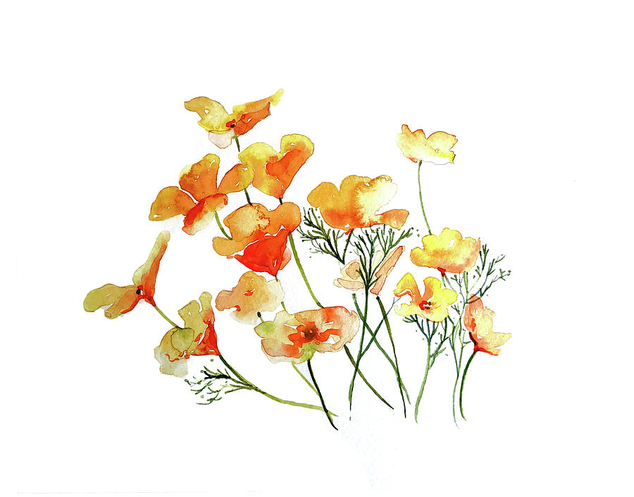 Yellow Poppies Painting