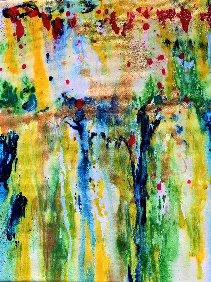 Yellow Poppy Field Painting
