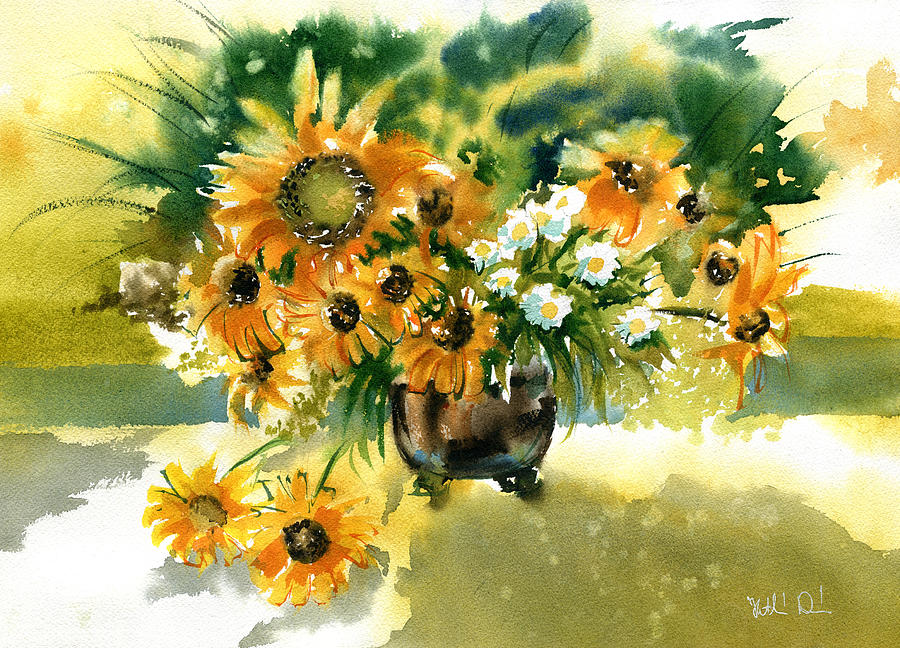 Yellow Summer Bouquet by Dora Hathazi Mendes