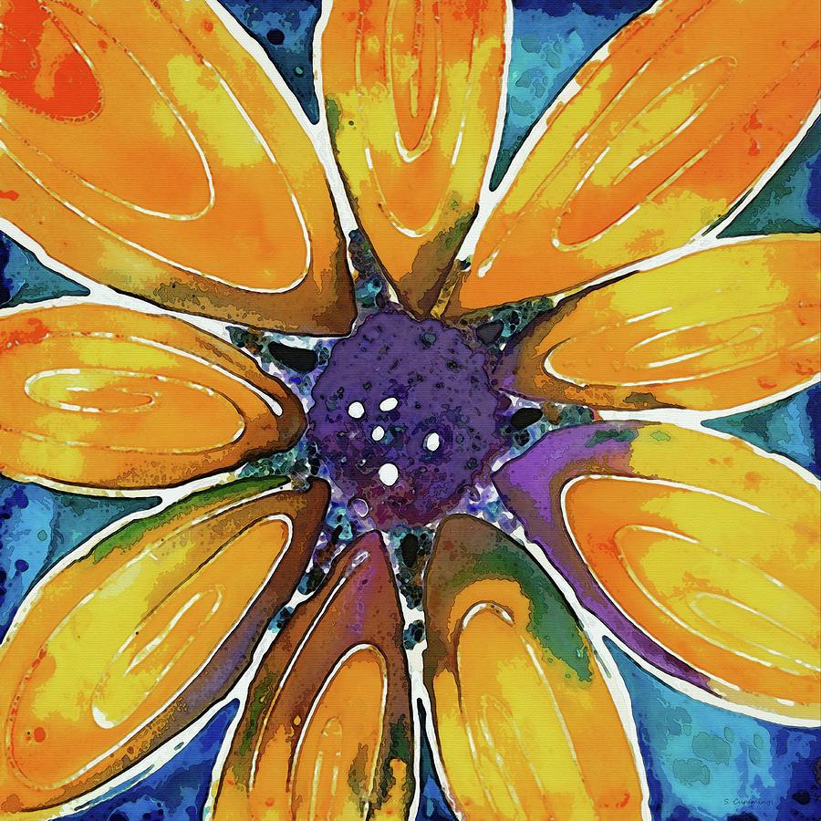 Sunflower Painting - Yellow Sunflower - Floral Art - Sharon Cummings by Sharon Cummings