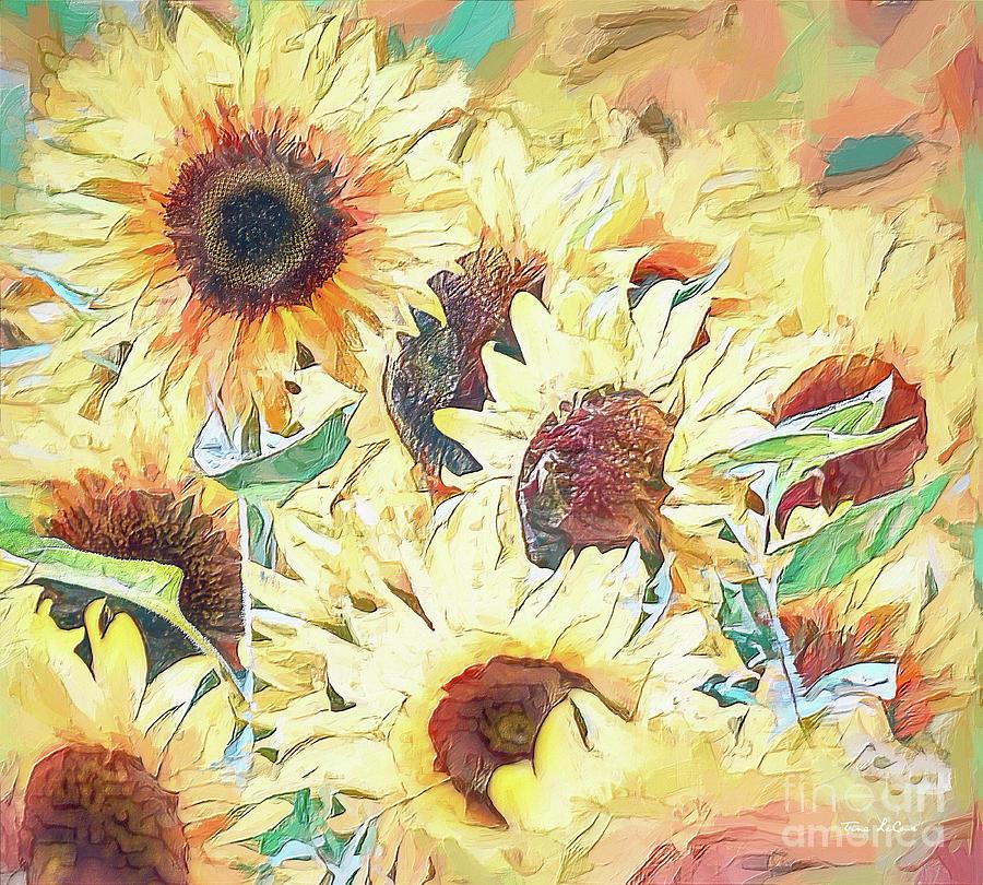 Yellow Sunflowers Photograph