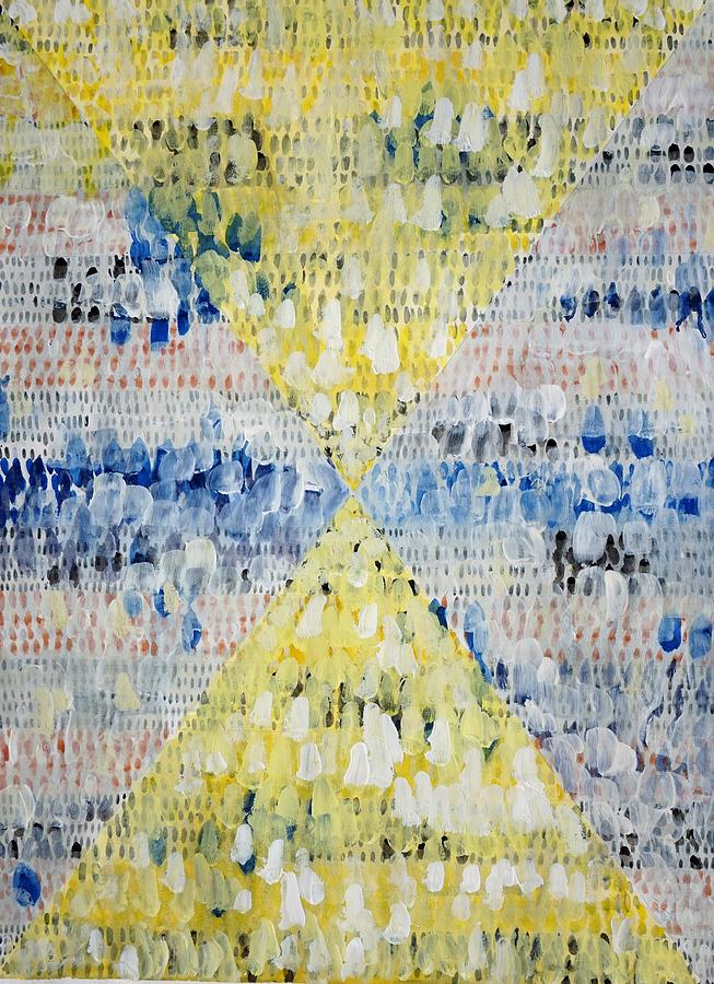 Yellow Painting - Yellow Triangles  by Bruce Black
