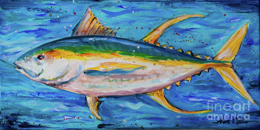 Yellowfin Tuna Indies by Linda Olsen