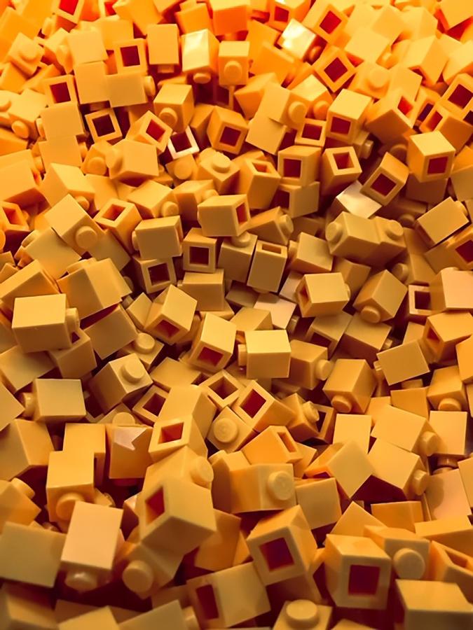 Blocks Photograph - Yellow Building Blocks by Jeremy Edsall