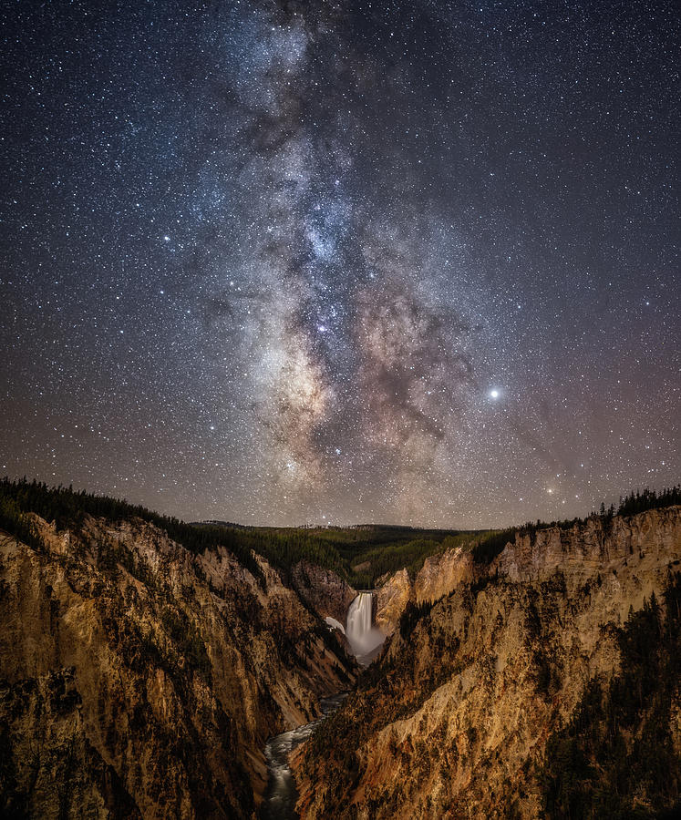 Yellowstone At Night Photograph