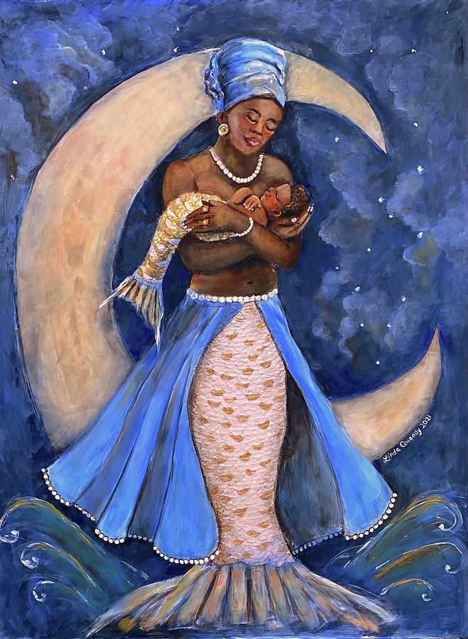 Yemaya Painting - Yemaya by Linda Queally