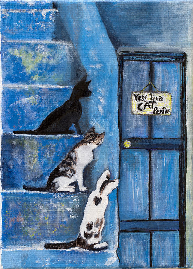 Yes i am cat person by Sarah Gittel