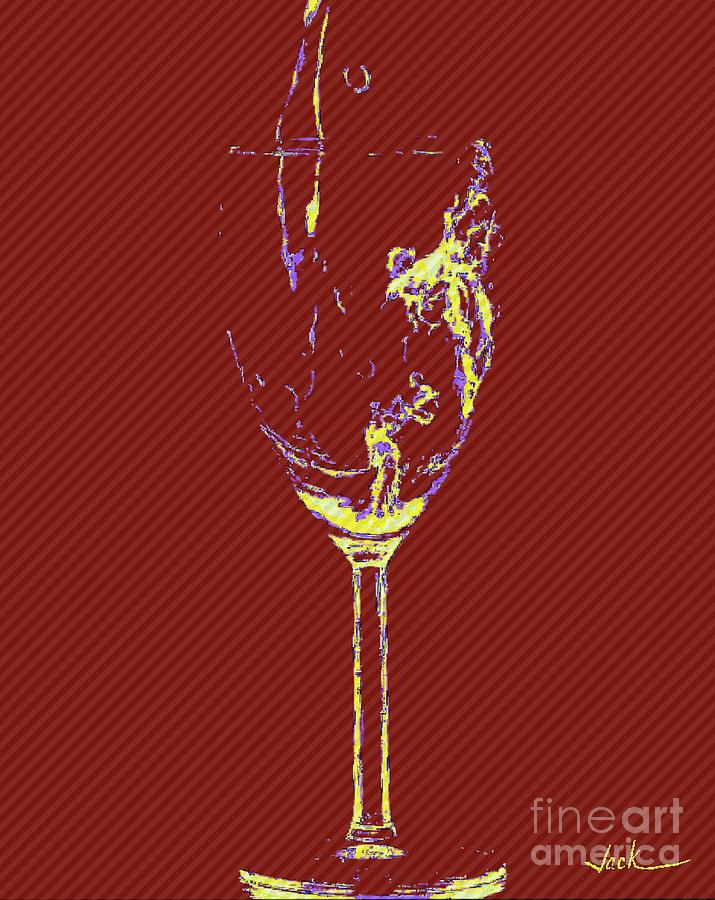 Wine Painting - Yes Please by Jack Bunds