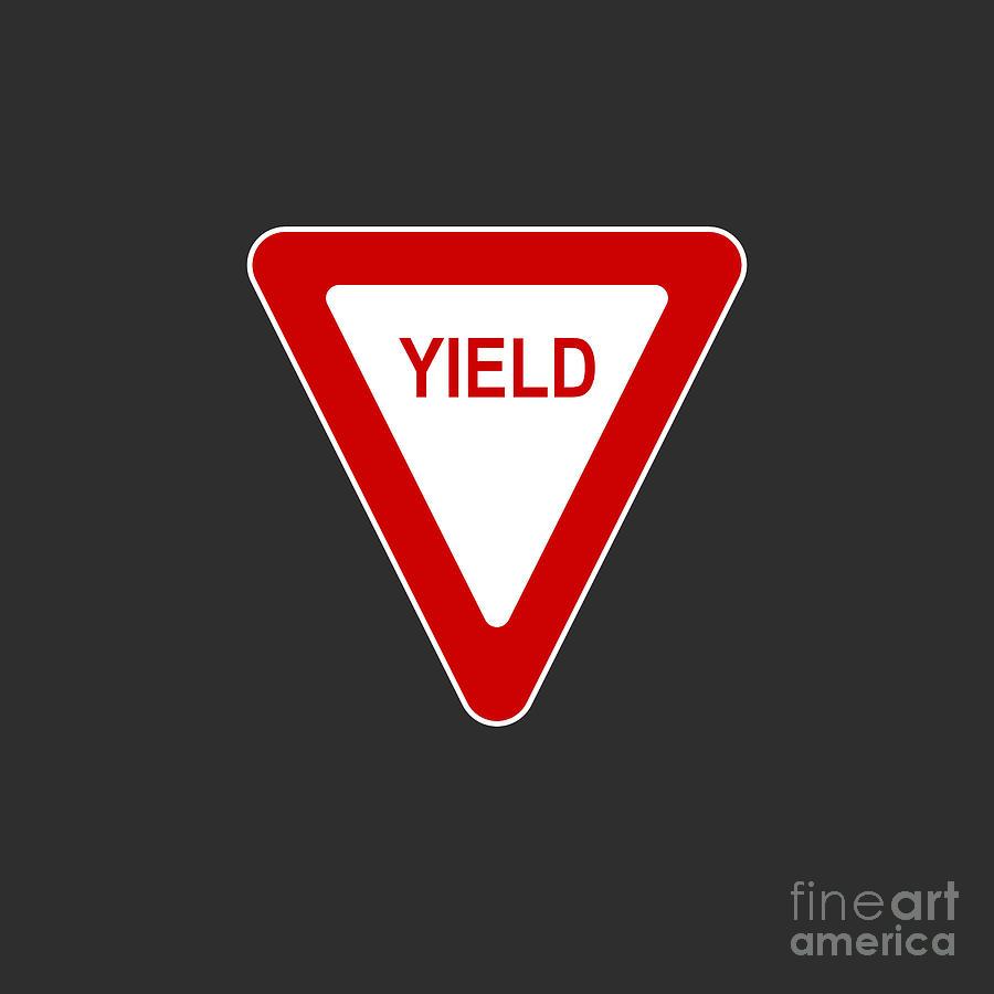 Yield Sign Icon Digital Art