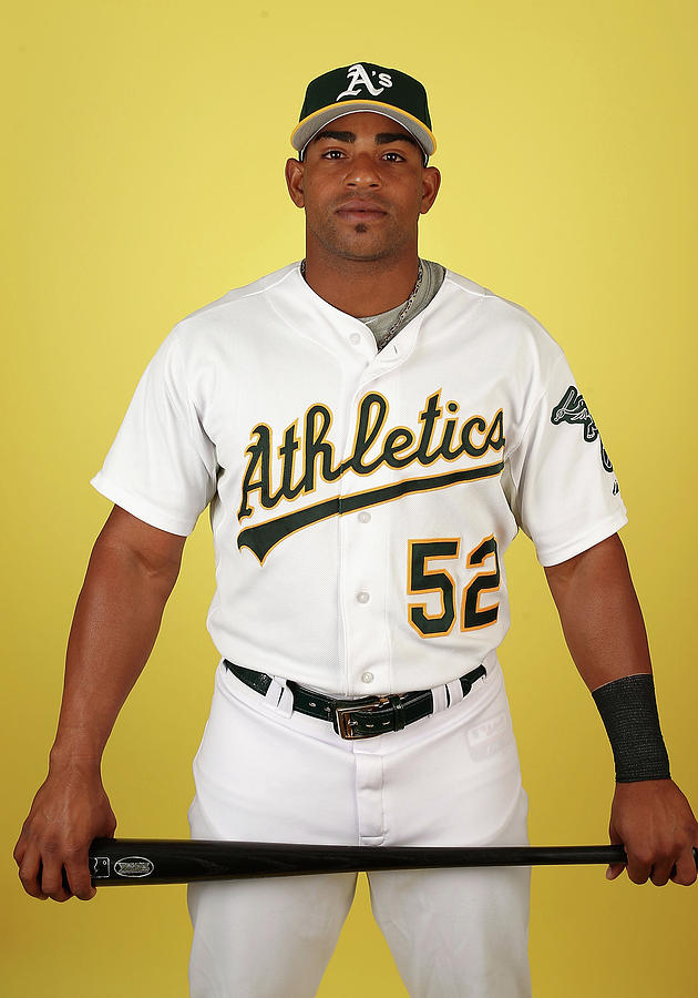 Yoenis Cespedes Photograph by Christian Petersen