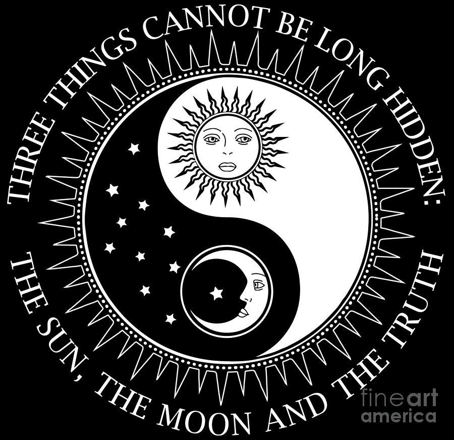 Yoga Teacher Buddha Sun Moon Truth Karma Gift Digital Art By Muc Designs