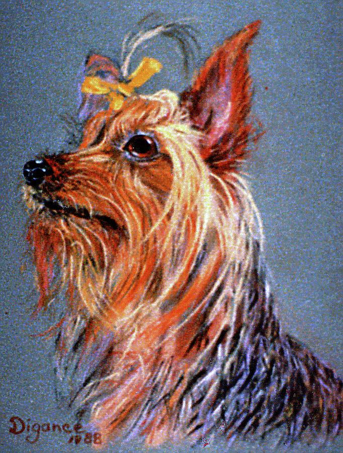 Yorkie Glamour Painting