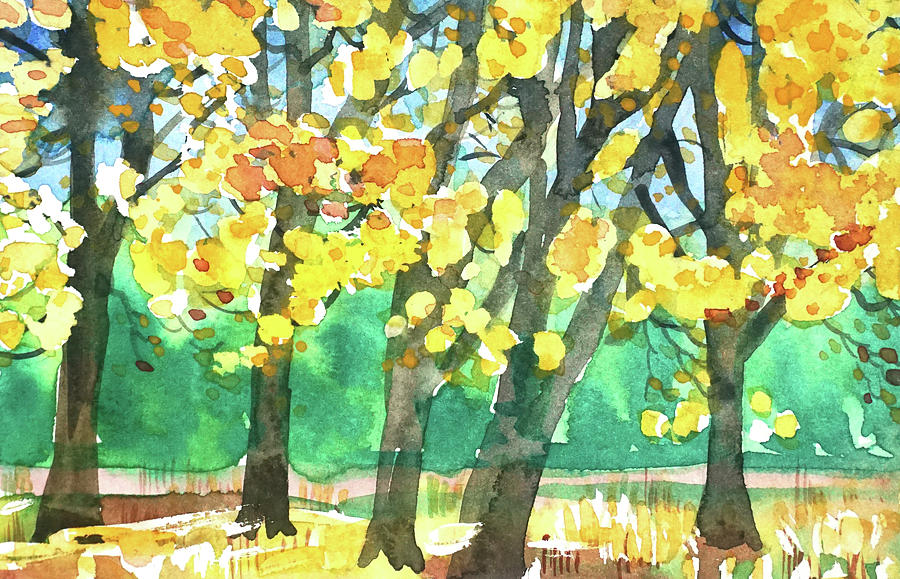 Yosemite Autumn Colors. Painting