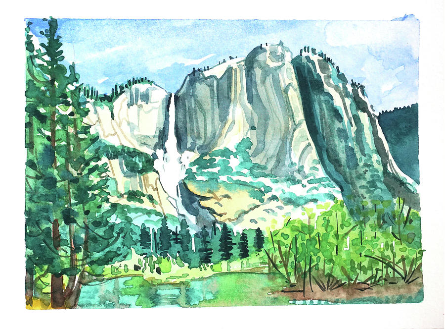 Yosemite Falls #4 Painting