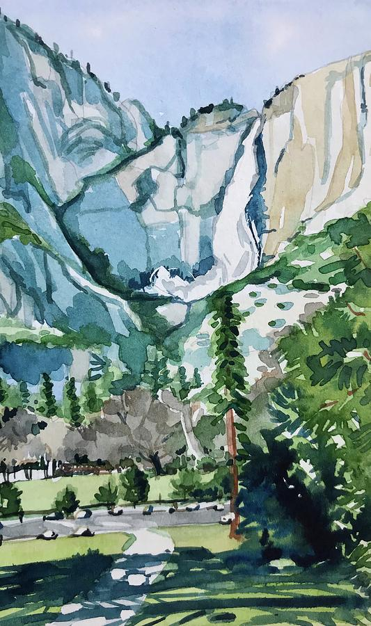Yosemite Painting - Yosemite Falls by Luisa Millicent