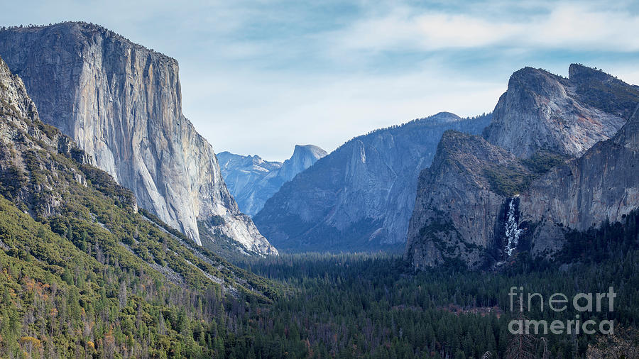 Yosemite Valley From Tunnel View Photograph