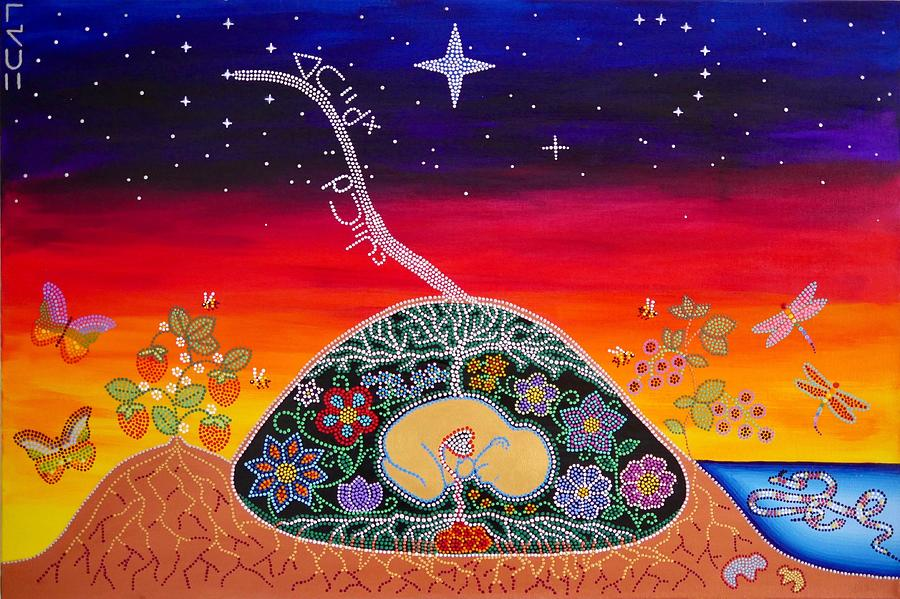 Indigenous Painting - You Come From The Stars by Karlee Fellner